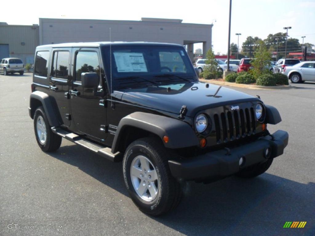 Black 2011 Jeep Wrangler Unlimited Sport 4x4 Exterior Photo 38146671