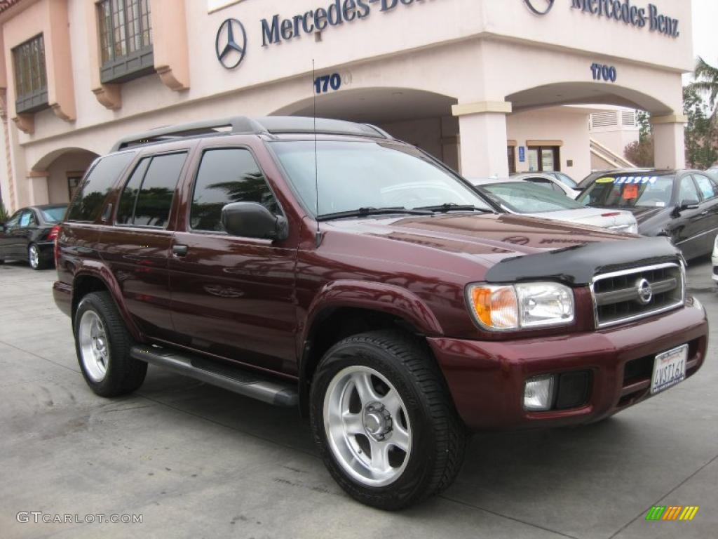 2002 pathfinder le 4x4 merlot pearl beige photo 1