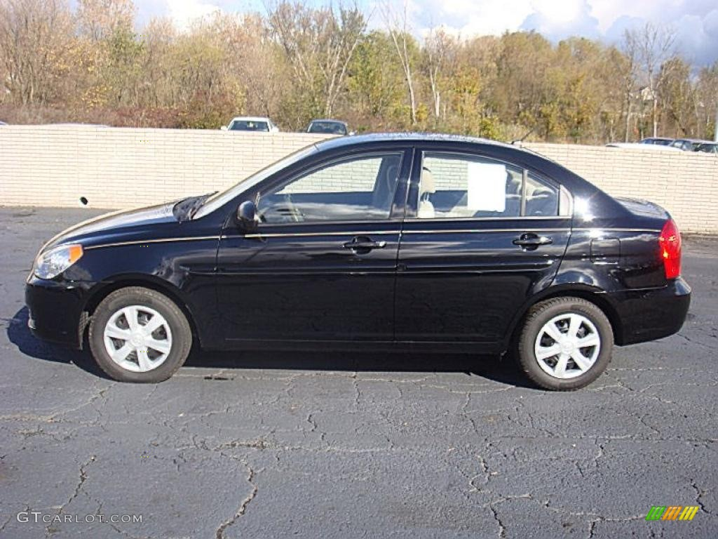 2006 Ebony Black Hyundai Accent Gls Sedan 38170181 Gtcarlot Com Car Color Galleries