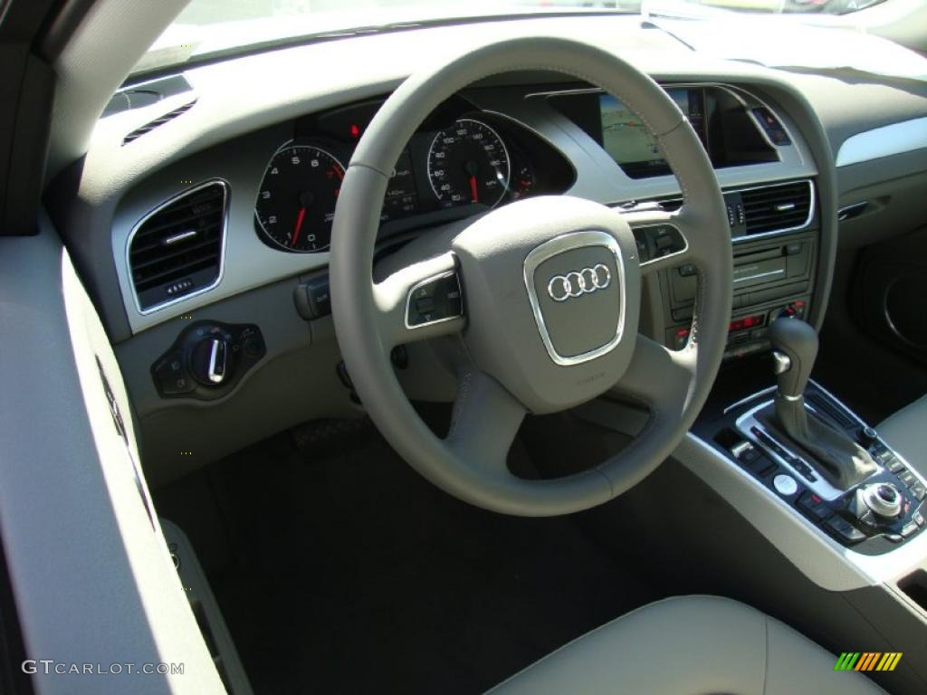 Light Gray Interior 2010 Audi A4 2 0t Quattro Sedan Photo