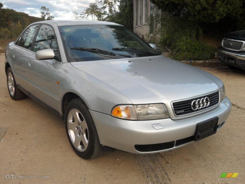 Aluminum silver metallic 1999 audi a4 2 8 quattro sedan exterior photo 38182568