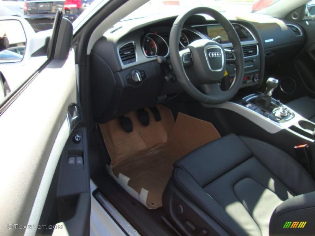 Black Interior 2011 Audi A5 2 0t Quattro Coupe Photo