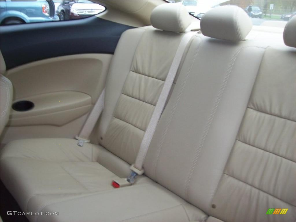 Ivory Interior 2010 Honda Accord Ex L V6 Coupe Photo