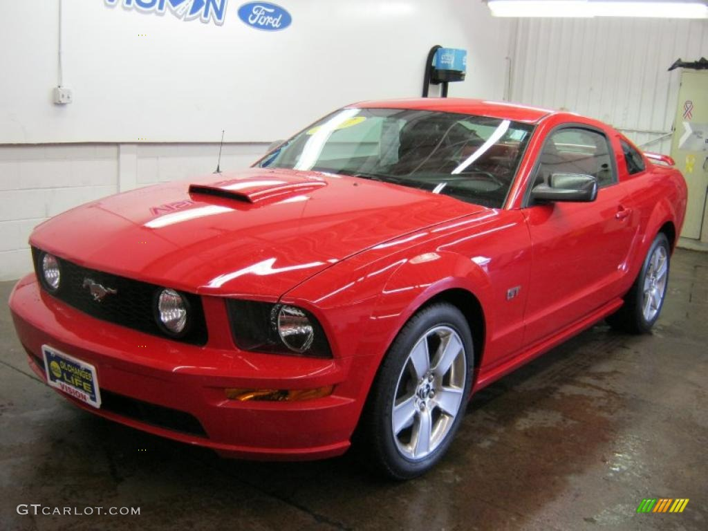 2007 Mustang GT Premium Coupe - Torch Red / Black/Red photo #1