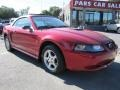 2001 Laser Red Metallic Ford Mustang V6 Convertible  photo #4