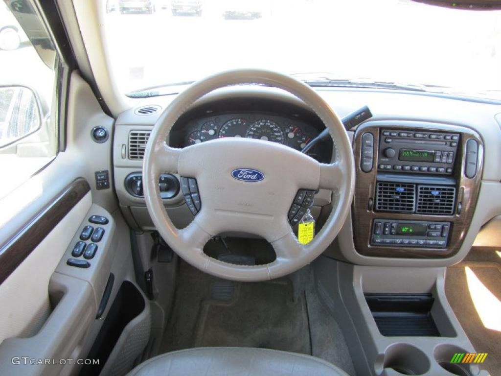 2003 Ford Explorer Ed Bauer Medium Parchment Beige Dashboard Photo 38207464