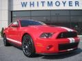 2011 Race Red Ford Mustang Shelby GT500 SVT Performance Package Coupe  photo #2