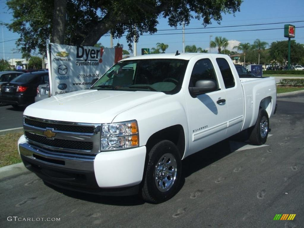 summit white 2011 chevrolet silverado 1500 ls extended cab. Black Bedroom Furniture Sets. Home Design Ideas