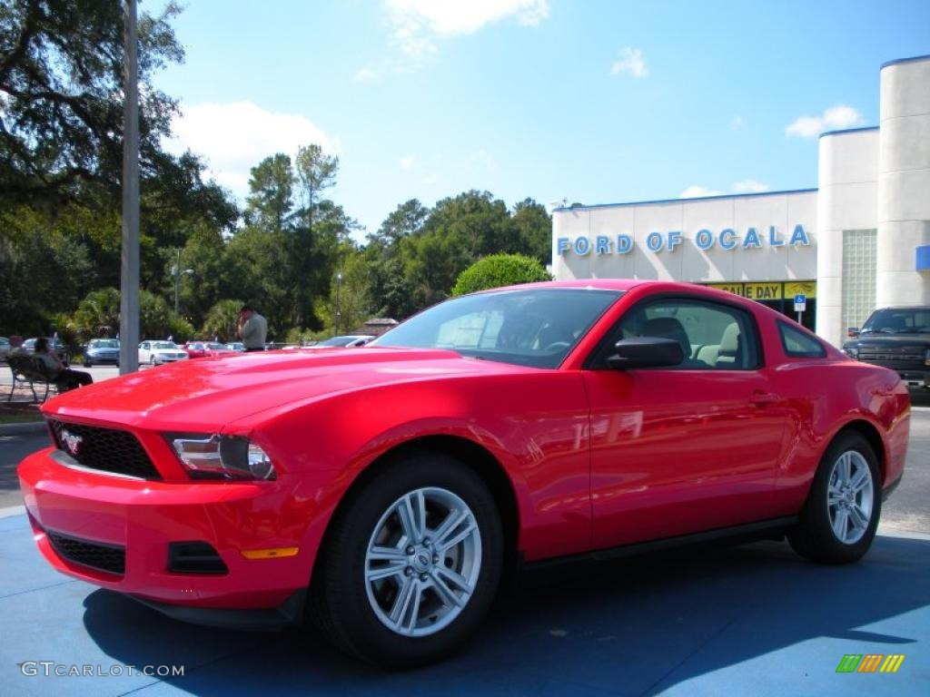2011 Mustang V6 Coupe - Race Red / Stone photo #1