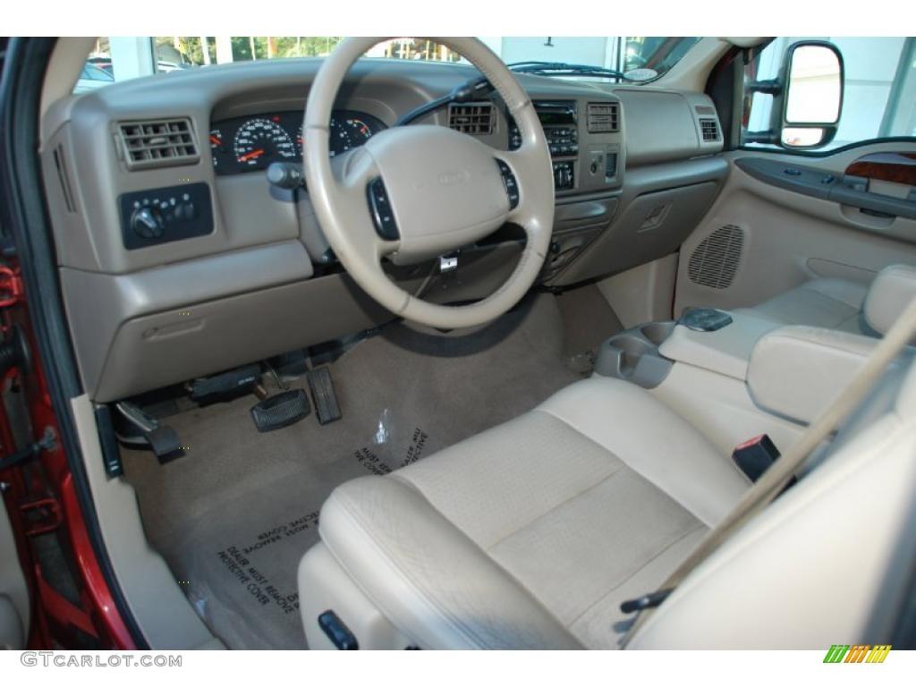 Medium Parchment Interior 2002 Ford F250 Super Duty Lariat SuperCab 4x4  Photo #38238559