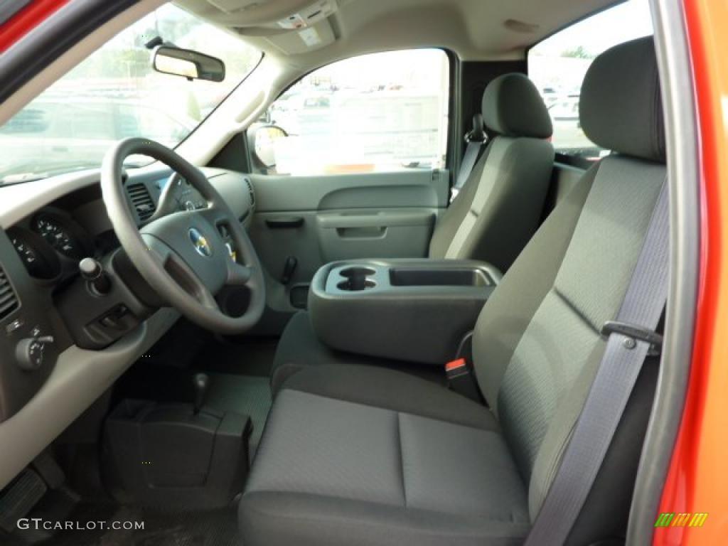 Dark Titanium Interior 2011 Chevrolet Silverado 1500 Regular Cab 4x4 Photo #38247967