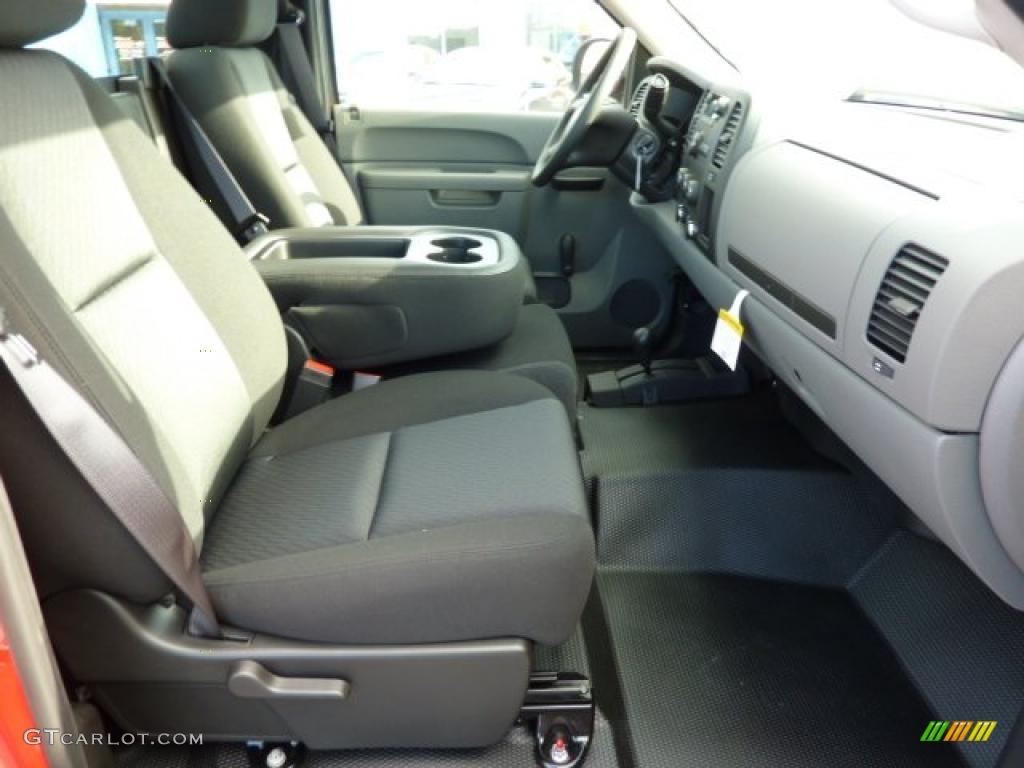 Dark Titanium Interior 2011 Chevrolet Silverado 1500 Regular Cab 4x4 Photo #38248063