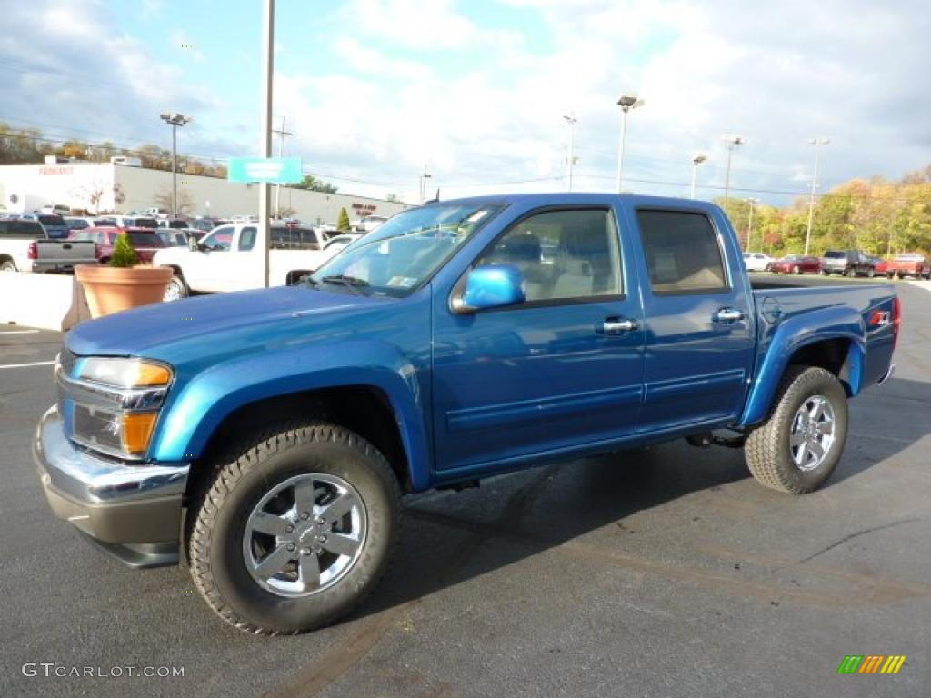 aqua blue metallic 2011 chevrolet colorado lt crew cab 4x4. Black Bedroom Furniture Sets. Home Design Ideas