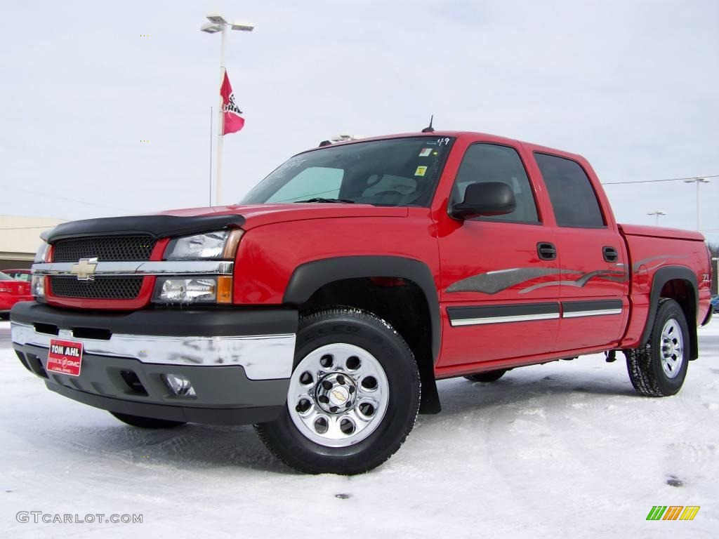 2005 Silverado 1500 Z71 Crew Cab 4x4 - Victory Red / Dark Charcoal photo #1