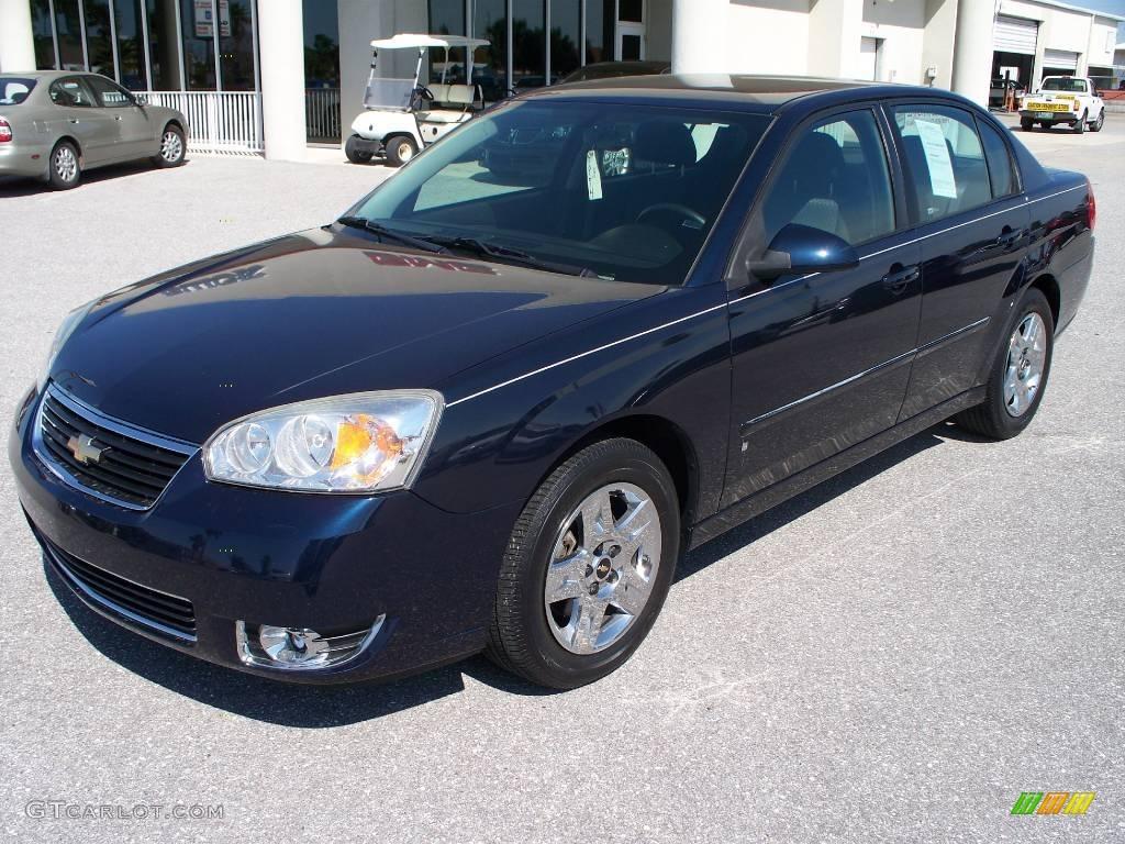 2006 Dark Blue Metallic Chevrolet Malibu Lt V6 Sedan