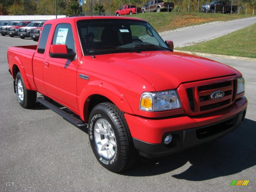 torch red 2011 ford ranger sport supercab 4x4 exterior photo 38279952. Black Bedroom Furniture Sets. Home Design Ideas