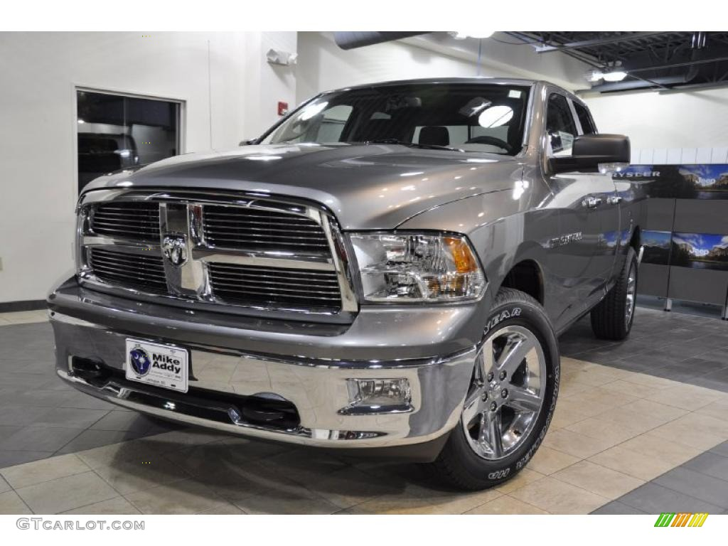 2011 mineral gray metallic dodge ram 1500 big horn quad cab 38276717 photo 2. Black Bedroom Furniture Sets. Home Design Ideas