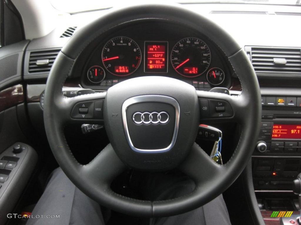 2008 Audi A4 3 2 Quattro S Line Sedan Black Steering Wheel