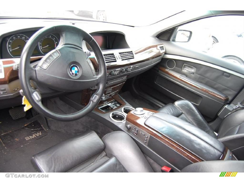 black black interior 2004 bmw 7 series 745li sedan photo 38304823