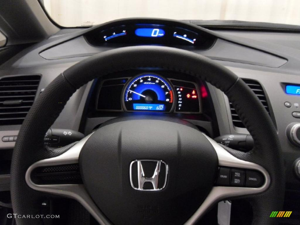 2011 Honda Civic LX S Sedan Black Steering Wheel Photo #38308663