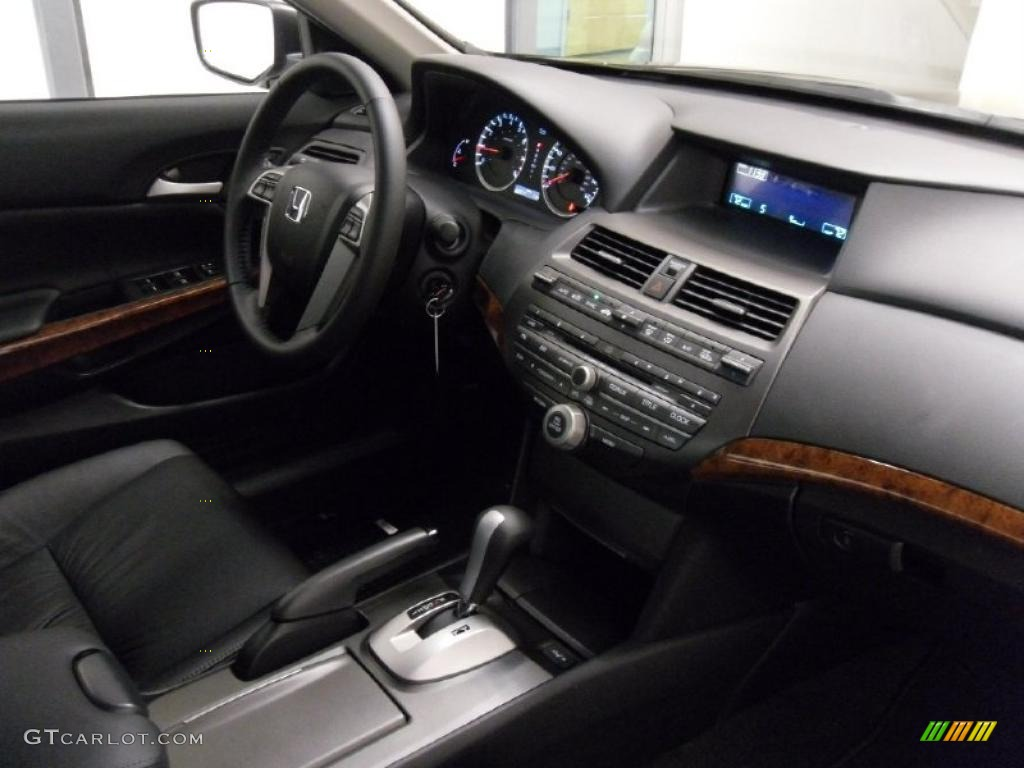 Black Interior 2011 Honda Accord Ex L V6 Sedan Photo