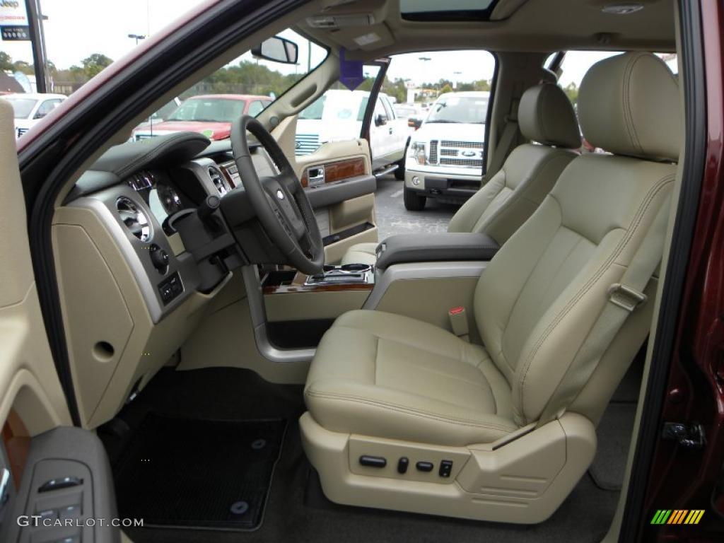 tan interior 2010 ford f150 lariat supercrew 4x4 photo 38322251
