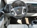 2011 Chevrolet Silverado 1500 Light Titanium/Ebony Interior Steering Wheel Photo