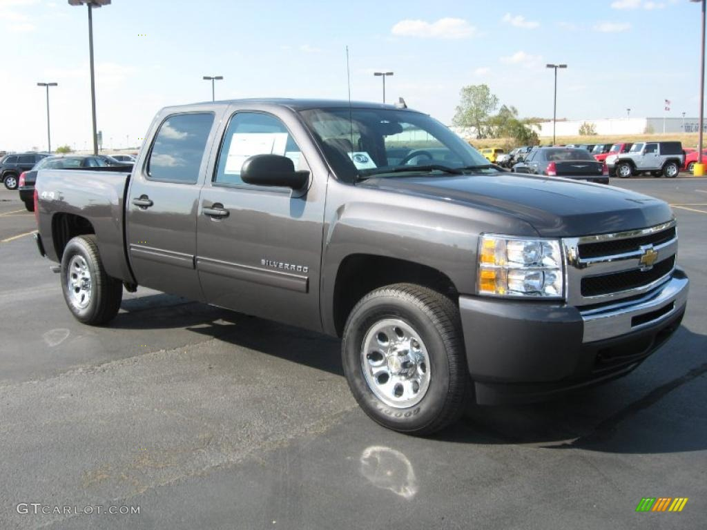 taupe gray metallic 2011 chevrolet silverado 1500 ls crew cab 4x4 exterior photo 38338552. Black Bedroom Furniture Sets. Home Design Ideas