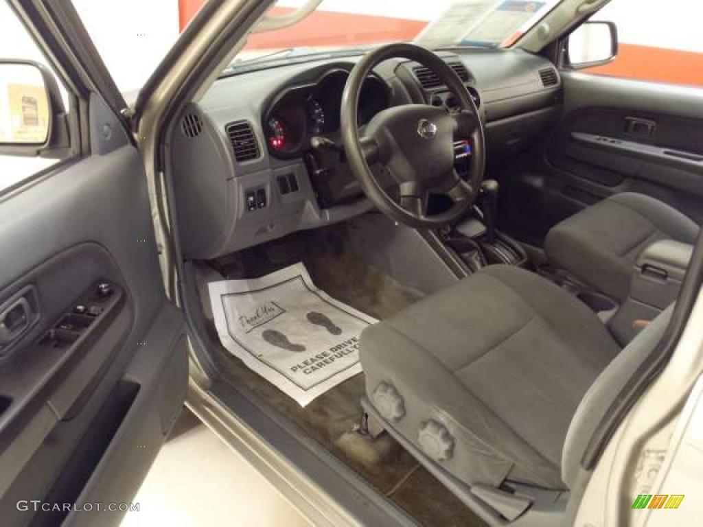 Gray Interior 2003 Nissan Frontier Sc V6 Crew Cab 4x4 Photo 38343121