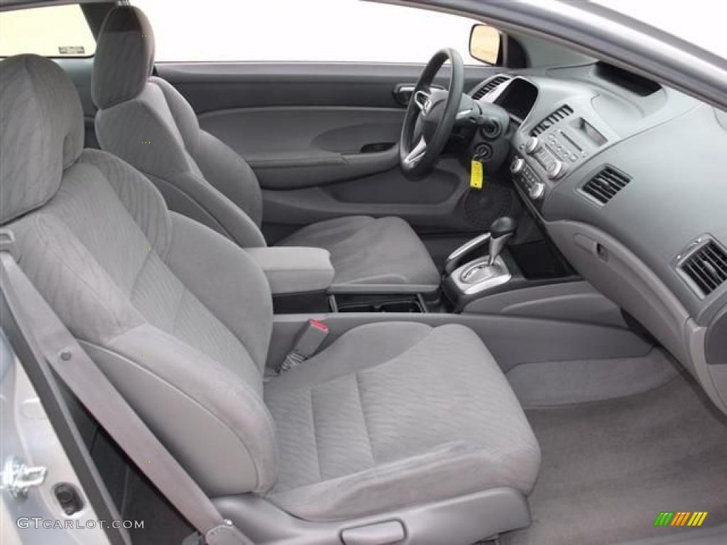 Gray Interior 2009 Honda Civic Lx Coupe Photo 38360334