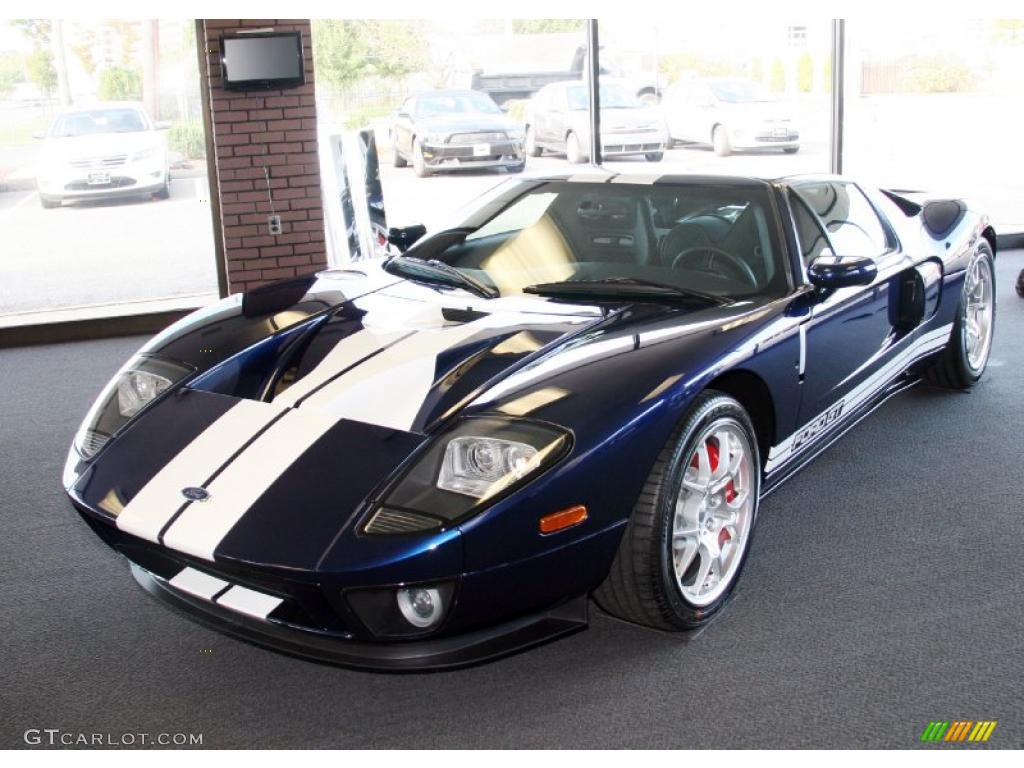 Midnight Blue Metallic Ford Gt
