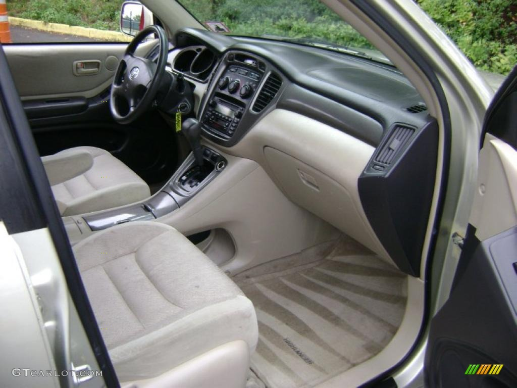 2001 Toyota Highlander Standard Highlander Model Interior Color ...