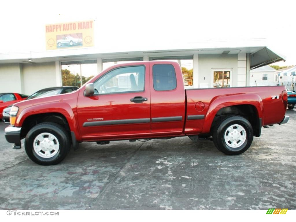 Dark cherry red metallic chevrolet colorado