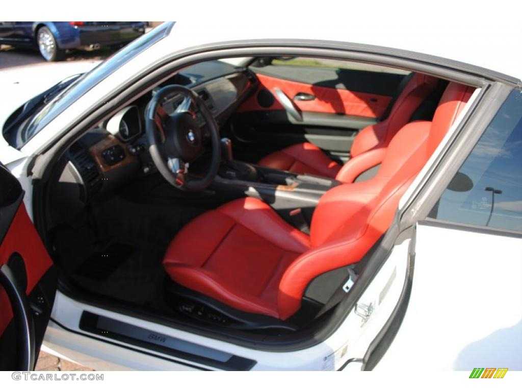 Dream Red Interior 2007 Bmw Z4 3 0si Coupe Photo 38382298