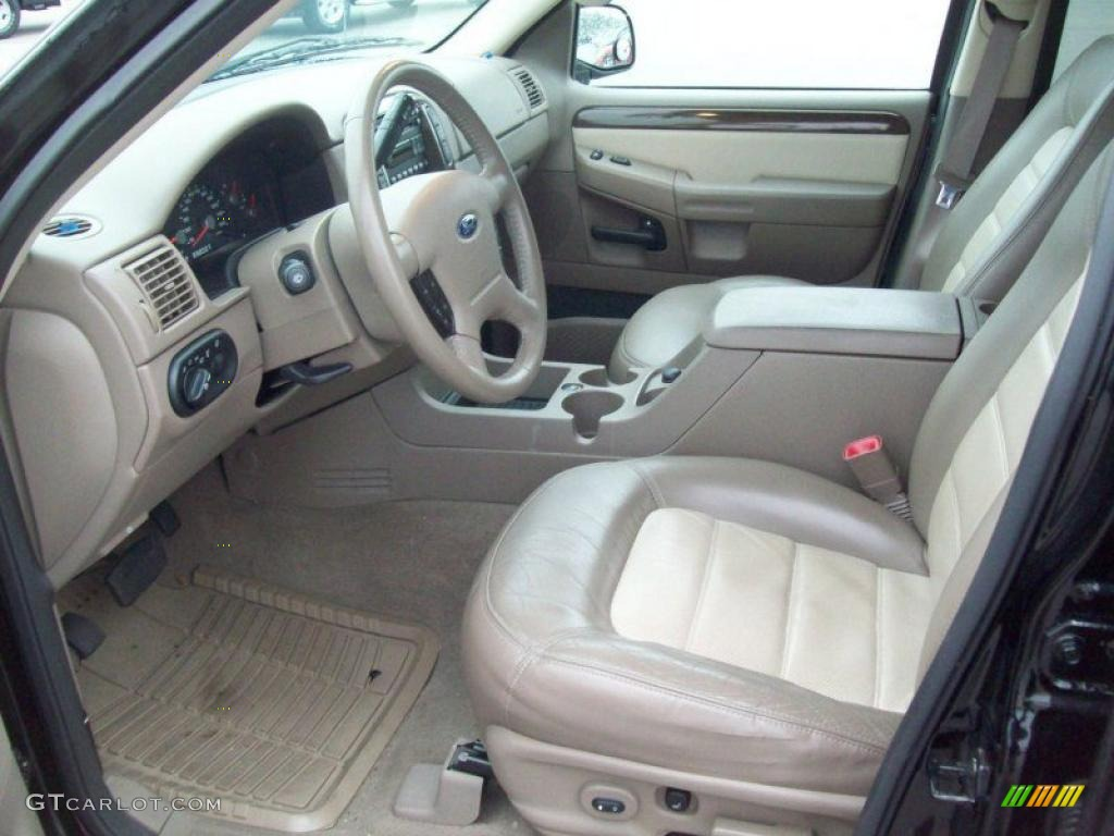 medium parchment interior 2005 ford explorer eddie bauer 4x4 photo 38384214 - 2005 Ford Explorer Interior