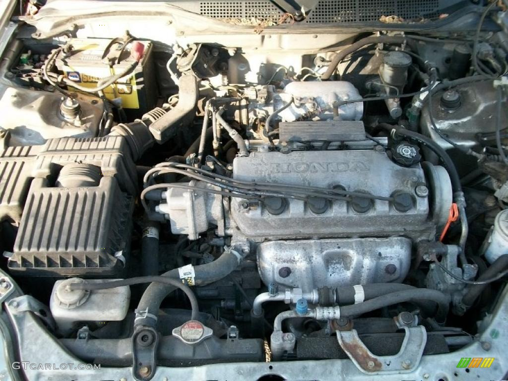 1998 Honda Civic EX Coupe 1.6 Liter SOHC 16V VTEC 4 Cylinder Engine Photo  #38388375