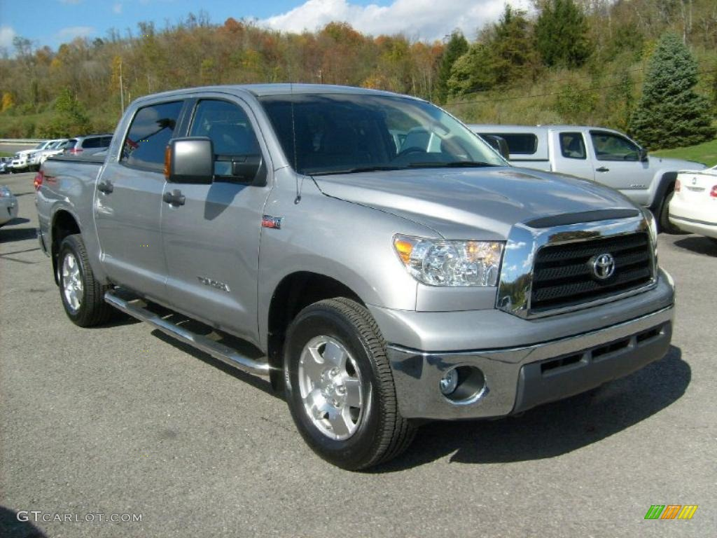 2008 silver sky metallic toyota tundra trd crewmax 4x4 38342797 car color. Black Bedroom Furniture Sets. Home Design Ideas