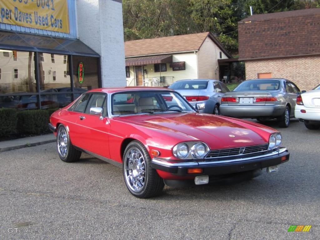 Signal Red Jaguar XJ