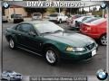 2001 Dark Highland Green Ford Mustang V6 Coupe  photo #1