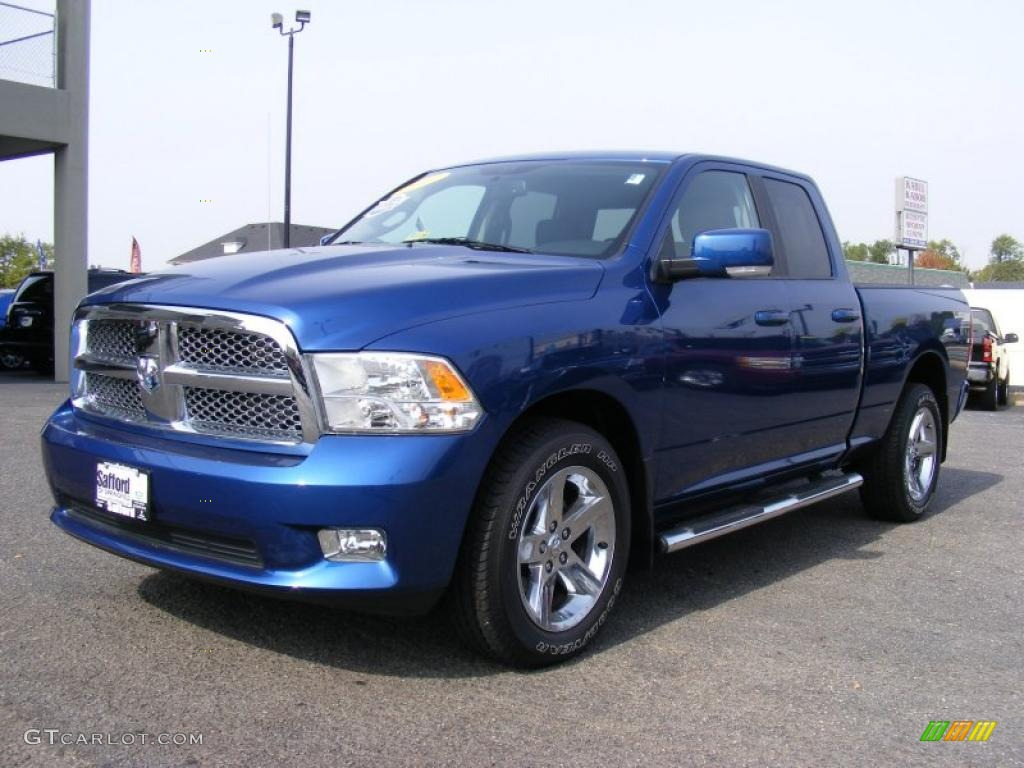 deep water blue pearl 2010 dodge ram 1500 sport quad cab 4x4 exterior photo 38404472. Black Bedroom Furniture Sets. Home Design Ideas