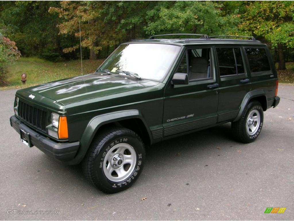 Moss Green Pearl 1996 Jeep Cherokee Classic 4x4 Exterior