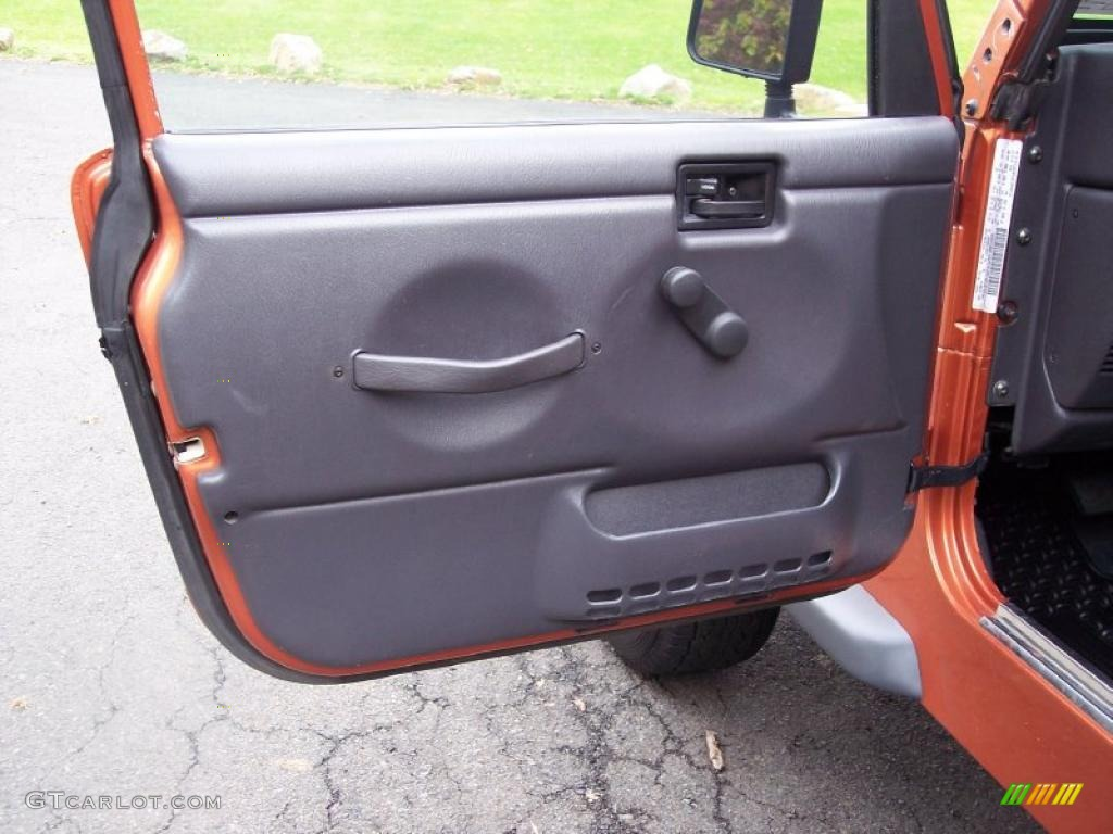2001 Jeep Wrangler Sport 4x4 Agate Black Door Panel Photo