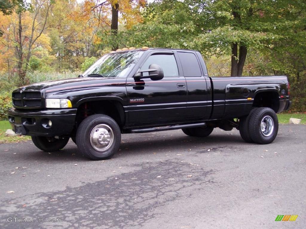 2001 black dodge ram 3500 slt quad cab 4x4 dually. Black Bedroom Furniture Sets. Home Design Ideas