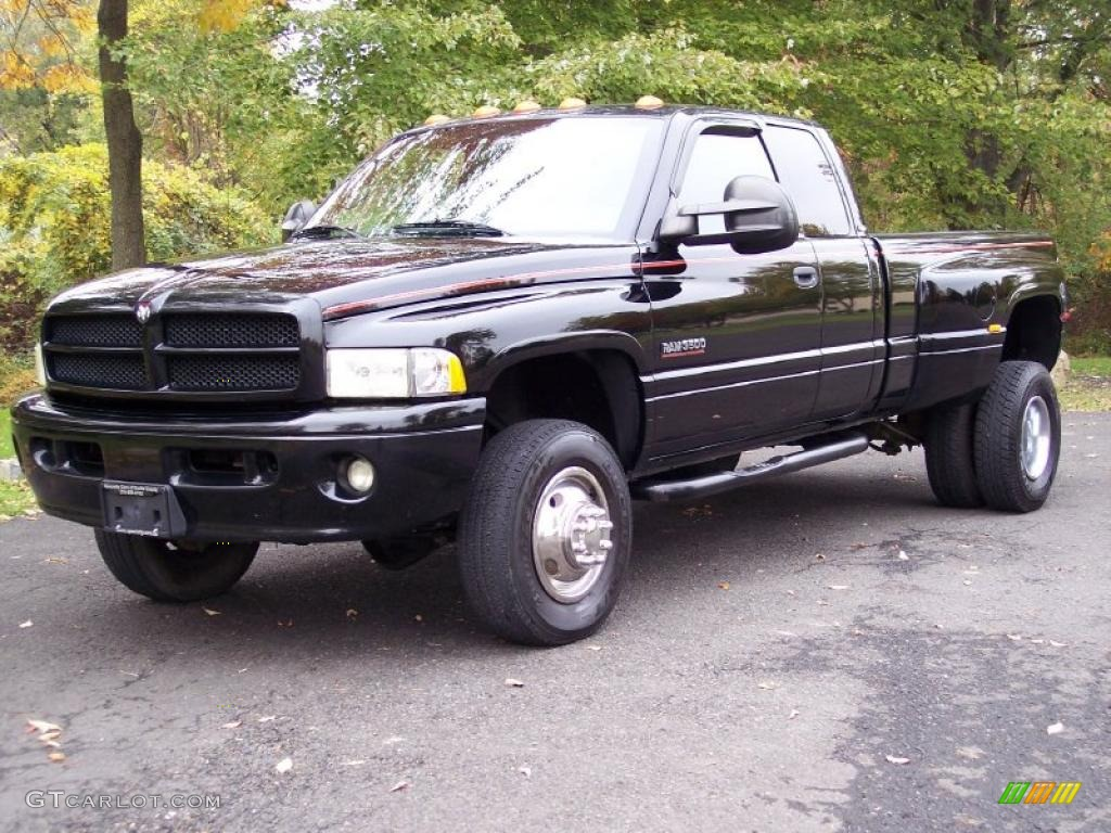 Black 2001 Dodge Ram 3500 Slt Quad Cab 4x4 Dually Exterior