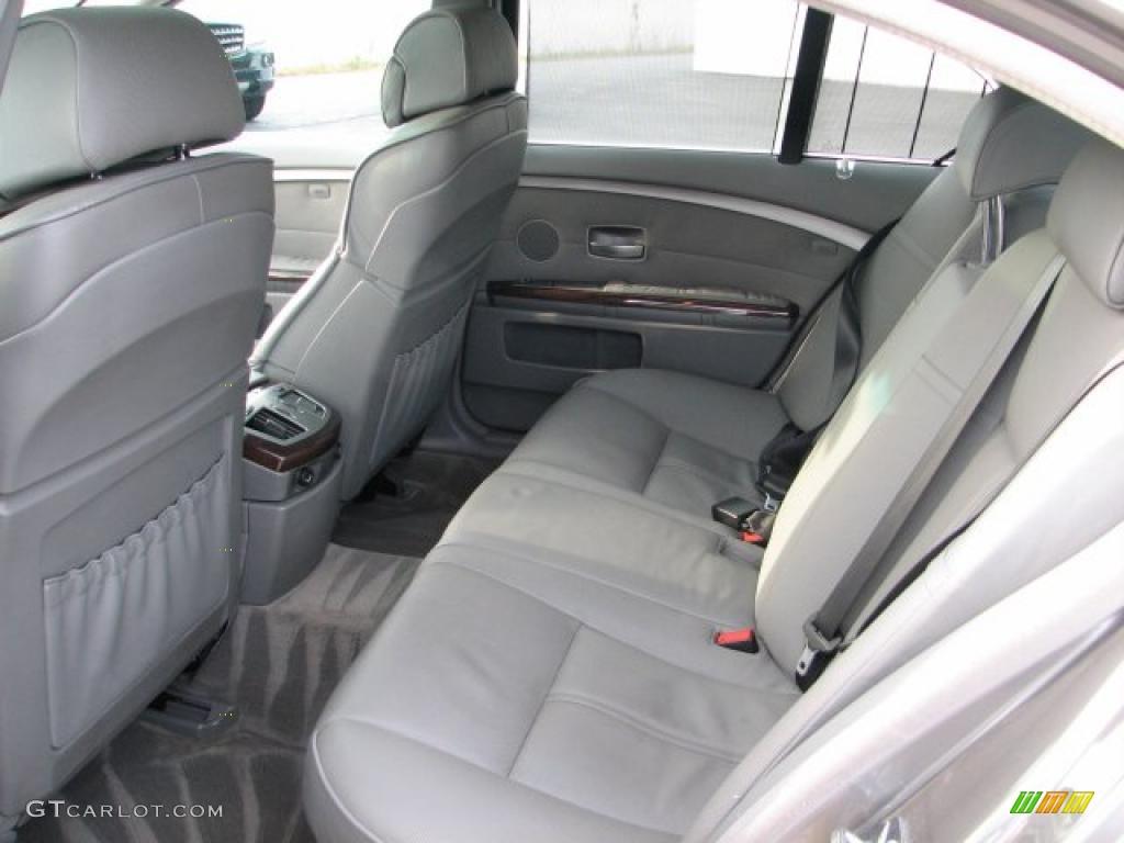 Flannel Grey Interior 2002 BMW 7 Series 745i Sedan Photo 38420225
