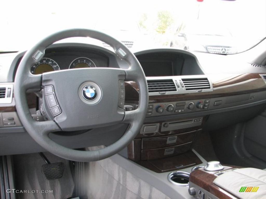 2002 BMW 7 Series 745i Sedan Flannel Grey Dashboard Photo 38420241