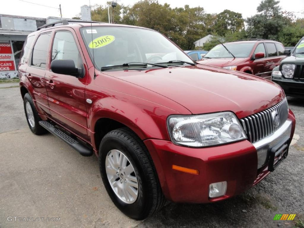 vivid red 2005 mercury mariner v6 premier 4wd exterior. Black Bedroom Furniture Sets. Home Design Ideas