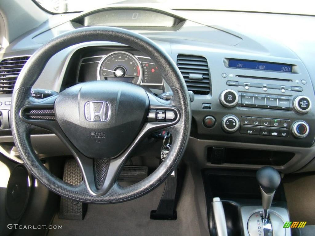 Gray Interior 2008 Honda Civic Lx Coupe Photo 38437084