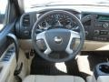2011 Chevrolet Silverado 1500 Light Cashmere/Ebony Interior Steering Wheel Photo
