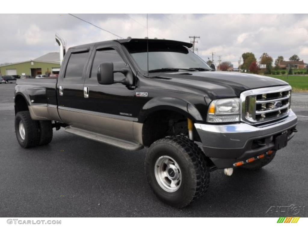 2003 Black Ford F350 Super Duty Lariat Crew Cab 4x4 Dually